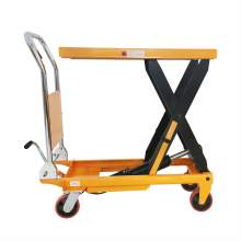 "Manual Single Scissor Lift Table 660 lbs 35.4"" Lifting Height"