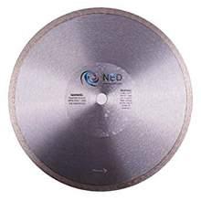 """NED 12"""" x 1"""" Premium Dry Cut Tile Blade (Continuous Rim)"""