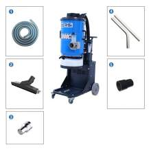 258 Cfm  2  independently controlled Motors  Concrete Dust Extractor