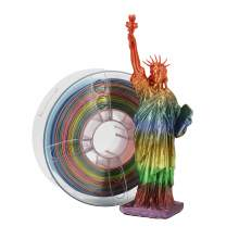 Rainbow 1.75mm PLA Silk Filament 1kg Spool (2.2 lbs) for 3D Printer Multicolor Rainbow PLA Silk 3D Printer Filament