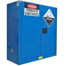 "Corrosive Safety Cabinet 30 Gallon 44"" x 43"" x 18""  Manual Door"