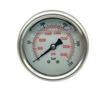 P1 2,5 Inch Pressure Gauge 1/4 Npt 0-3500Psi/0-250Bar Back Entry SS304