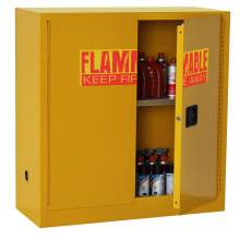 FM Approve, 30 Gallon Flammable Storage Cabinet, Manual Close