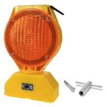 Solar LED Barricade Light 7'' Head Dia. Amber Lens