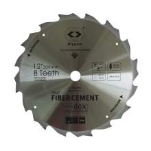 Hirono Polycrystalline Diamond Tipped  TCG Fiber Cement Saw Blade 12'' by 8 Teeth 1'' Arbor