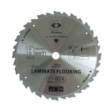 12'' PCD Saw Blade 16 Teeth 1'' Arbor Tipped TCG Laminate Flooring