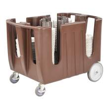 Multiple Adjustable Dish Caddy With Vinyl Cover Holds Up 300 Dishes