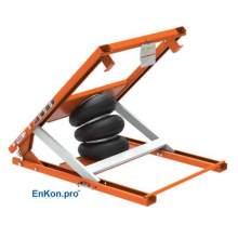 EnKon Modular 1000lb Capacity A-Series Air Scissor 45˚ Tilt Table (Tilt Only)