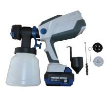 HVLP Portable Rechargeable Cordless Paint Sprayer With 3 Nozzles