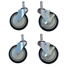 """5"""" Caster for Mobile Sheet Pan Rack&Dunnage Rack Without Brake,4PC/set"""