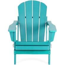 Polywood Adirondack Chair Poly Lumber Plastic  Tiffany Blue  Foldable