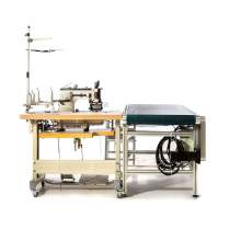 Industrial Heavy Duty Silicon Edge Sewing Machine With Convey Belt