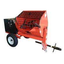 TK Equipment 16 Cu. Ft. Steel Drum Hydraulic Mortar Mixer w/ GX390 Honda Engine HM16-GH13