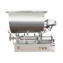 6.8-34 OZ Semi-Auto Paste Filling Machine With Mixing & Heating Hopper