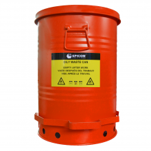 Oily Waste Can 14 Gallon Red