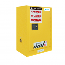 "FM Approved 4gal Flammable Cabinet 22x 17x 17"" Self-closing Door"