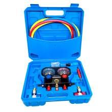 3 Way AC Manifold Gauge Set R134a R22 R404a R407C Refrigerant Charging