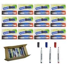 Whiteboard Marker Pen Bullet Tip 3 Colors(Black,Red,Blue) Set of 144