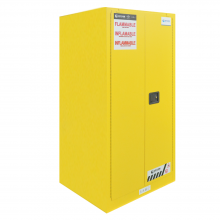 "FM Approved 90gal Flammable Cabinet 65x 43x 34"" Manual Door"