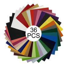 "36 Colors PU Heat Transfer Vinyl 10"" x 12"" Sheet Easy To Weed and Cut"