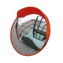 "24"" Outdoor Convex Mirror Safety Unbreakable Traffic Mirror with Cap"