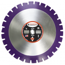 "Diamond Products 18"" Imperial Purple Asphalt/Green Concrete Wet Blades 36822"
