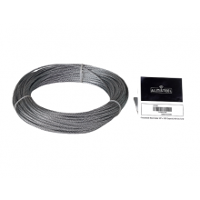 "Galvanized Cable 1/8"" x 100' Capacity 400 Lbs 7x19"