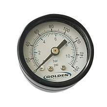 "Pressure Gauge 0 to 160 psi  1.5"" Steel  casa Back Mount"