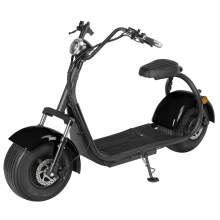 1500W Fat Tire Electric Scooter With Two Wheels 60V, 20Ah, Black