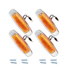 Led Trailer Clearance Side Marker Lights Amber With Chrome bezel
