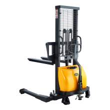 """Semi-Electric Straddle Stacker 63"""" Lift 3300lbs with Adj. Forks"""
