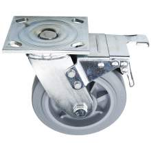 """4"""" Heavy Duty Swivel W/Brake TPR Caster(Flat)(Roller Bearing) 397 LBS"""