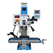 """Variable Speed 20""""×5-1/2"""" Bench Drill Mill Brushless Motor 1HP DRO"""