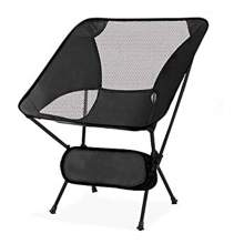 Outdoor Portable Ultralight  Folding Camping Moon Chair Black