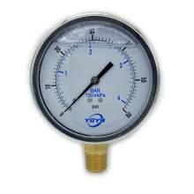 """4.0 Inch Liquid Pressure Gauge Bottom Connection 1/2""""NPT"""