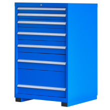 "Industrial Modular Drawer Cabinet  7 Drawers 28 1/4"" x 28 1/2"" x 48"""