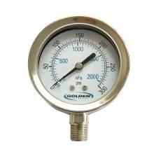 """2.5"""" Stainless Steel Industrial Pressure Gauge 0 to 300 psi"""