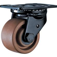 """3"""" Low Gravity Top Plate Swivel 280℃ High Temperature Caster 1213 LBS"""