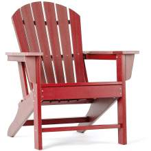 Polywood Adirondack Chair  Poly Lumber Plastic Adult-Size  Pepper Red