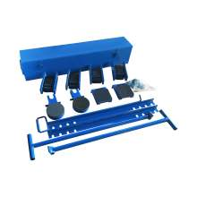 Industrial Machine Moving Roller Dolly Kit 30Ton, 66100Lb.