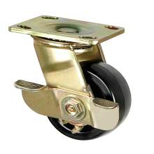 """Evernew 8"""" Heavy-Duty Swivel Plate Caster, 1200 lb. Load Rating"""