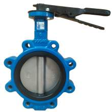 """Lug Style Butterfly Valve Ductile Iron 5"""" Pipe Size Class 150"""