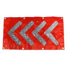 "33.5 x 18"" Red Safety/Emergency Flashing LED Chevron Arrow Mats"