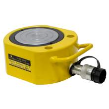 """100 tons Hydraulic Cylinder Jack Single Acting Low Height 0.4"""" Stroke"""