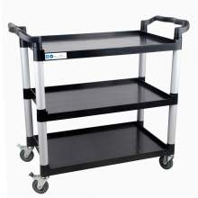 "MAXARA Black Utility / Bus Cart with Three Shelves - 32"" x 16"""