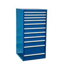 "Industrial Modular Drawer Cabinet 28 1/4"" x 28 1/2"" x 57"" 11 Drawers"