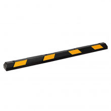 """72""""L Rubber Parking Stop Rubber Parking Curb Stopper Reflective Tape"""