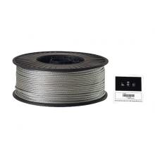 "Galvanized Cable 3/16"" x 500' Capacity 840 Lbs 7 x 19"