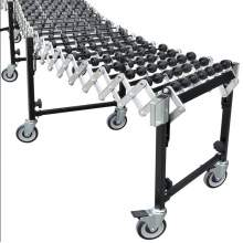 "Flexible Expandable Skate Wheel Conveyor Bed  18"" W x 3 to 12 Ft L"