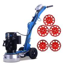 10'' Folding concrete floor grinder & 5x grinding heads
